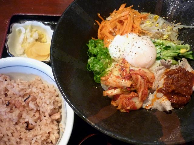 ビビンバ風冷麺セット