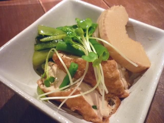 厚揚げと小松菜とたけのこ炊き