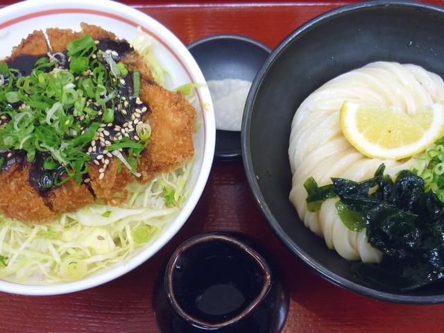 ミソカツ丼とミニうどん(ぶっかけ・冷)
