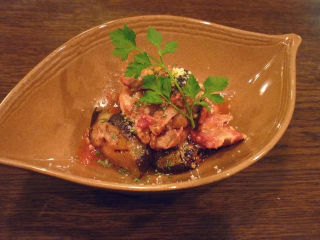 鶏と茄子のトマト煮
