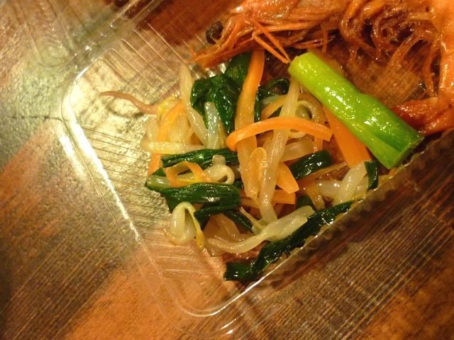 干し肉の添え野菜