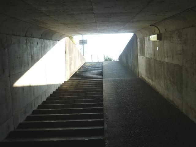 地下道の出口