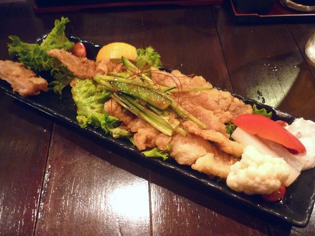 鶏皮パリパリポン酢サラダ