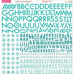 017959 [Bella Blvd] High Five アルファベットステッカー (Gulf) 400円