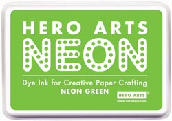 332115 [Hero Arts] Neon Ink Pad (Green) 650円