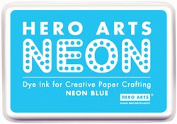 332116 [Hero Arts] Neon Ink Pad (Blue) 650円