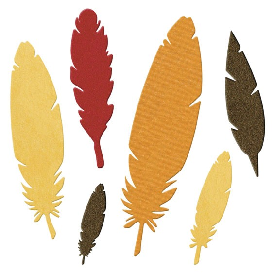 DR0376 [Lifestyle Crafts] Feathers die 4x4 1300円
