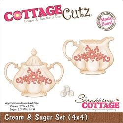 244179 CottageCutz Die 4x4 (Cream Sugar Set) 1995円