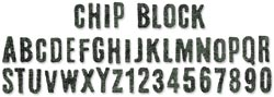 453123 Sizzix Sizzlits Decorative Strip Die By Tim Holtz (Chip Block Alphabet) 2000円