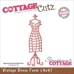 029939 Cottagecutz Die 4x4 (Vintage Dress Form) 1995円