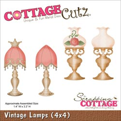 029941 Cottagecutz Die 4x4 (Vintage Lamps) 1995円