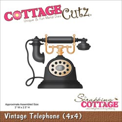 029943 Cottagecutz Die 4x4 (Vintage Telephone) 1995円
