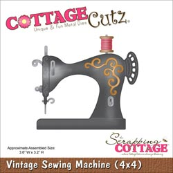 029944 Cottagecutz Die 4x4 (Vintage Sewing Machine) 1995円