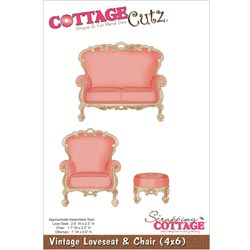 029959 Cottagecutz Die 4x6 (Vintage Loveseat Chair) 2495円