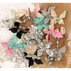 018417 [Prima] Lifetime Paper Butterflies With Gem 24ピース 500円 ※2月18日