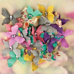 035758 [Prima] Hello Pastel Paper Butterflies With Gem 24ピース 500円 ※2月18日