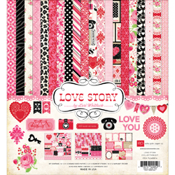 017943 [Echo Park Paper] Love Story Collection Kit 12インチ 1400円