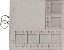 270527 [Fabscraps] ダイカットチップボードアルバム 10x9 (Film Strip) 700