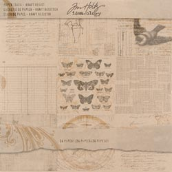 472148 [Tim Holtz] Idea-Ology Paper Stash Paper Pad 12インチ 24枚 (Kraft Resist) 1550円