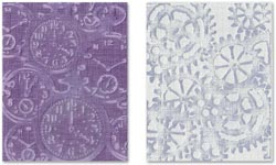 470707 Sizzix Texture Fades Embossing Folders By Tim Holtz (Clock Steampunk) 1100円
