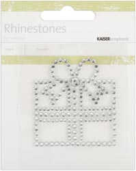413345 Self-Adhesive Rhinestone Words (Present-Silver)