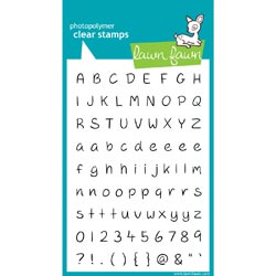 316800 [Lawn Fawn] Clear Stamps (Jessies ABCs) 1500円