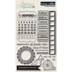 036116 [Teresa Collins] Memories Clear Stamps 4x6 700円