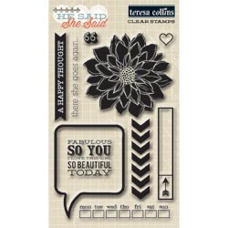 036202 [Teresa Collins] She Said Clear Stamps 4x6 700円