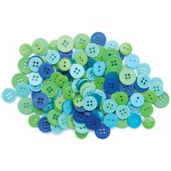 430201 Favorite Findings Buttons Assorted 130ピース (Ocean) 300円