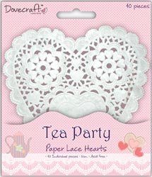 209751 [Trimcraft] Tea Party Doily Pack 30枚 (Hearts) 210円