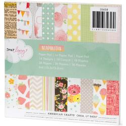 223322 [American Crafts] Dear Lizzy Neapolitan Paper Pad 6インチ 36枚 650円