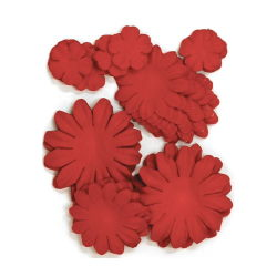 401602[Kaisercraft] Paper Flowers 2cm, 35cm, 5cm Assorted 60ピース (Poppy) 400円