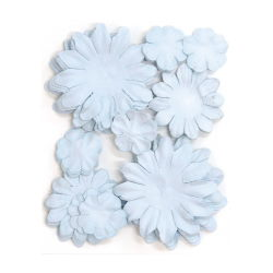 401606 [Kaisercraft] Paper Flowers 2cm, 35cm, 5cm Assorted 60ピース (Baby Blue) 400円