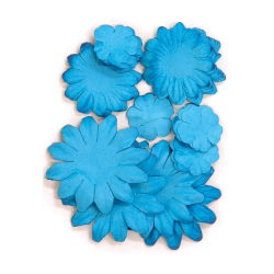 401608[Kaisercraft] Paper Flowers 2cm, 35cm, 5cm Assorted 60ピース (Lagoon) 400円