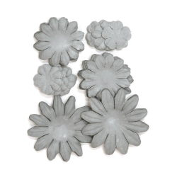 401615 [Kaisercraft] Paper Flowers 2cm, 35cm, 5cm Assorted 60ピース (Ash) 400