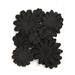401616 [Kaisercraft] Paper Flowers 2cm, 35cm, 5cm Assorted 60ピース (Midnight) 400