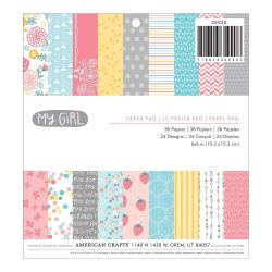 043692 [American Crafts] My Girl Paper Pad 6インチ 36枚 650円