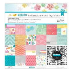 043693 [American Crafts] My Girl Paper Pad 12インチ 48枚 2300円