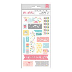 043694 [American Crafts] My Girl Remarks Fabric Stickers 375x675 (Soda Pop) 450円