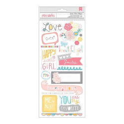 043696 [American Crafts] My Girl Remarks Stickers 55x12 2シート (Sweetie) 350円