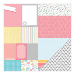 043677 [American Crafts] My Girl Cardstock 12インチ (Sunny Savannah) 100円