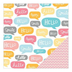 043681 [American Crafts] My Girl Cardstock 12インチ (Marvelous Madeline) 100円