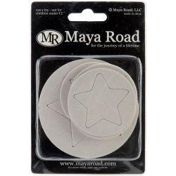 023507 [Maya Road] チップボードセット24枚 (Lucky Stars) 380円