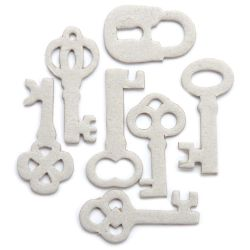 250998 [Maya Road] ミニチップボード28枚 (Antique Keys) 400円