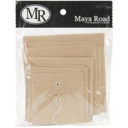 251147 [Maya Road] クラフトエンベロップ 10ピース (Square Deco Edge )430円