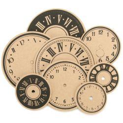 251213 [Maya Road] クラフトダイカット28枚 (Time Flies Clocks) 430円