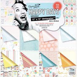 499663 [docrafts] Papermania Happy Days Designstax Paper Pad 12インチ 48枚 2300円