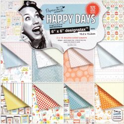 499665 [docrafts] Papermania Happy Days Designstax Paper Pad 6インチ48枚 800円