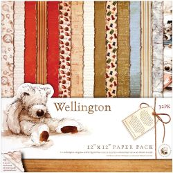 499722 [docrafts] Wellington Paper Pack 12インチ 32枚 1200円