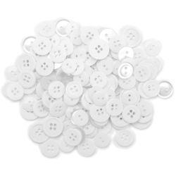 428952 Favorite Findings ボタンアソート130ピース (White) 300円